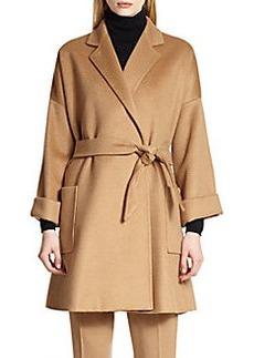 MaxMara Pelago Camelhair Wrap Coat