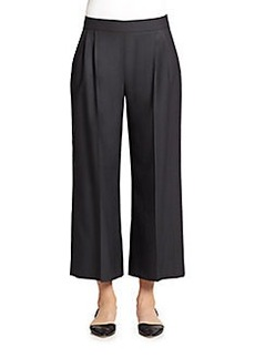 MaxMara Wool & Silk Wide Leg Ankle Pants