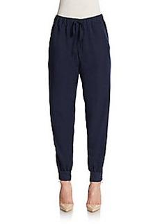 Max Studio Ankle-Zip Drawstring Pants