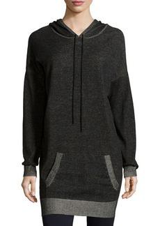 Max Studio Contrast-Trim Hooded Tunic Dress