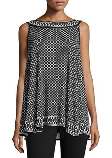 Max Studio Diamond-Print Jersey-Knit Tank