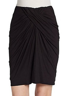 Max Studio Drape-Front Knit Pencil Skirt