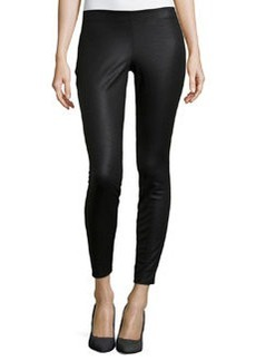 Max Studio Faux-Leather Skinny-Leg Pants, Black