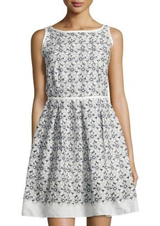 Max Studio Floral Sleeveless Fit-and-Flare Dress