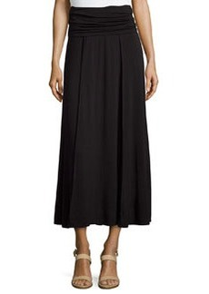 Max Studio Fold-Over Jersey Knit Skirt, Black