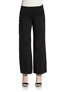Max Studio Fold-Over Wide-Leg Pants
