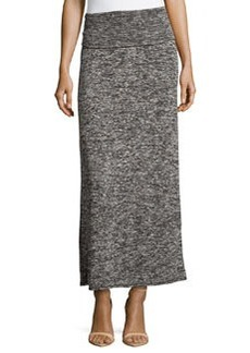 Max Studio Folded-Band Knit Maxi Skirt