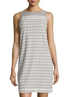 Max Studio Geo-Pattern Sleeveless Shift Dress