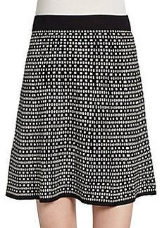 Max Studio Geo-Print A-Line Skirt