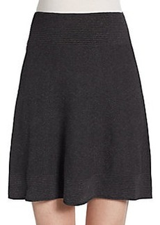 Max Studio Jacquard A-Line Sweater Skirt