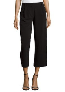 Max Studio Jersey Cropped Pants, Black
