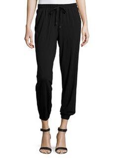 Max Studio Jersey Jogger Pants, Black
