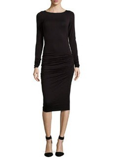Max Studio Jersey Twisted & Ruched Dress, Black