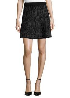 Max Studio Knit Floral-Design Sweater Skirt