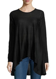 Max Studio Knit Scoop-Neck A-Line Sweater