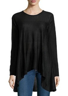 Max Studio Knit Scoop-Neck A-Line Sweater, Black