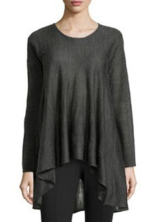 Max Studio Knit Scoop-Neck A-Line Sweater, Charcoal