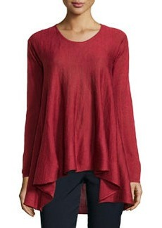 Max Studio Knit Scoop-Neck A-Line Sweater, Garnet