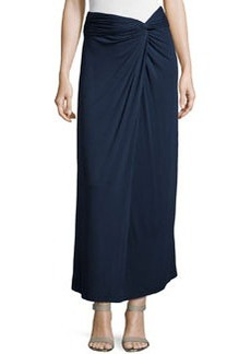 Max Studio Knotted Jersey Maxi Skirt, Dark Navy