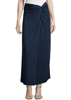 Max Studio Knotted Jersey Maxi Skirt