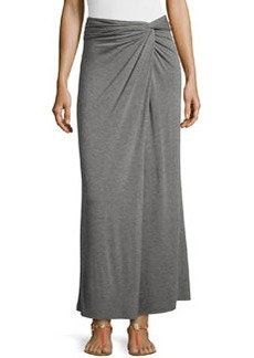Max Studio Knotted Jersey Maxi Skirt, Heather Steel