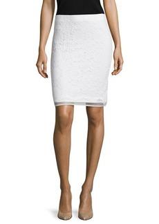 Max Studio Lace Overlay Pencil Skirt