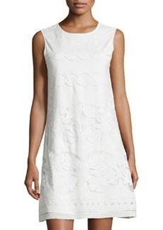 Max Studio Lace Sleeveless Shift Dress, Off White