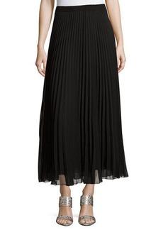 Max Studio Pleated Chiffon Midi Skirt