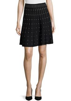 Max Studio Polka Dot Stretch-Knit Circle Skirt
