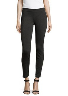 Max Studio Ponte Knit Legging, Charcoal