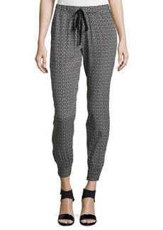 Max Studio Printed Drawstring Tapered Pants