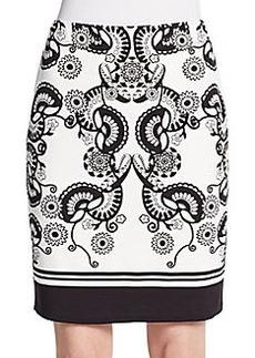 Max Studio Printed Jersey-Knit Skirt