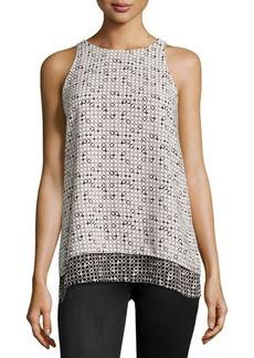 Max Studio Printed Sleeveless Blouse