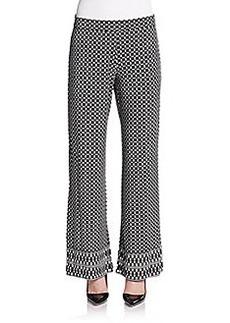 Max Studio Printed Wide-Leg Pants