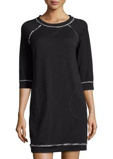 Max Studio Rolled Trim Sweatshirt Dress