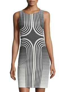 Max Studio Rope-Print Sleeveless Scuba Dress