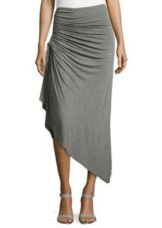 Max Studio Ruched Asymmetric Skirt