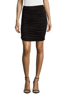 Max Studio Ruched Jersey Skirt, Black
