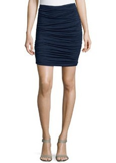 Max Studio Ruched Jersey Skirt, Dark Navy