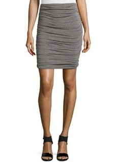 Max Studio Ruched Jersey Skirt, Heather Steel