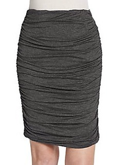 Max Studio Ruched Knit Pencil Skirt
