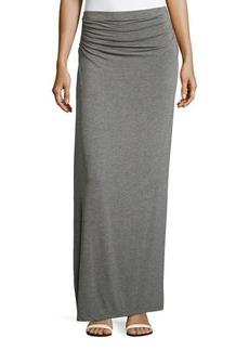 Max Studio Ruched-Waist Maxi Skirt