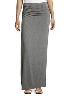 Max Studio Ruched-Waist Maxi Skirt, Heather Steel