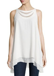 Max Studio Sleeveless Chiffon Blouse, Ivory