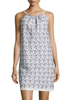 Max Studio Sleeveless Floral-Print Shift Dress