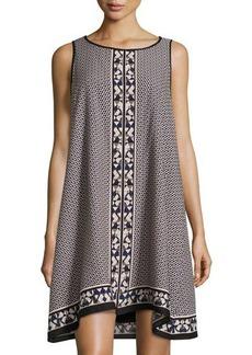 Max Studio Sleeveless Printed Poplin Shift Dress