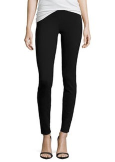 Max Studio Solid Ponte Leggings, Black