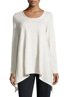 Max Studio Speckled Tunic Sweatshirt