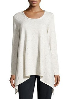 Max Studio Speckled Tunic Sweatshirt, Ecru