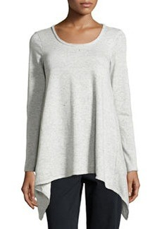 Max Studio Speckled Tunic Sweatshirt, Gray